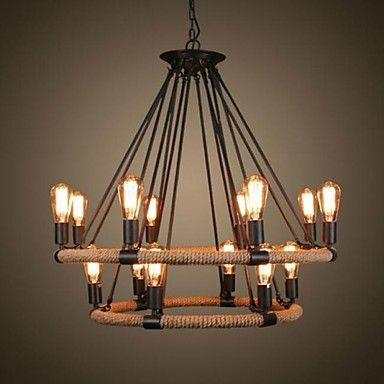 40W Traditional/Classic / Rustic/Lodge / Vintage / Retro / Country Painting Metal Pendant LightsLiving Room / Bedroom / Dining Room / 2283405 2016 – $453.99