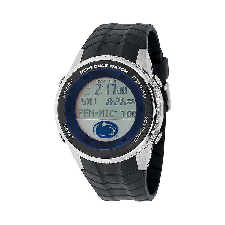 Game Time Penn State Nittany Lions Stainless Steel Digital Schedule Watch - Men, Black