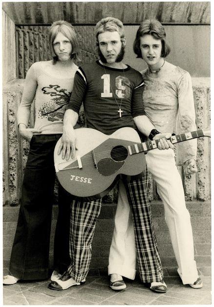 "Hammersmith Gorillas photo shoot for their proto-punk single, ""You Really Got Me,"" 1974"