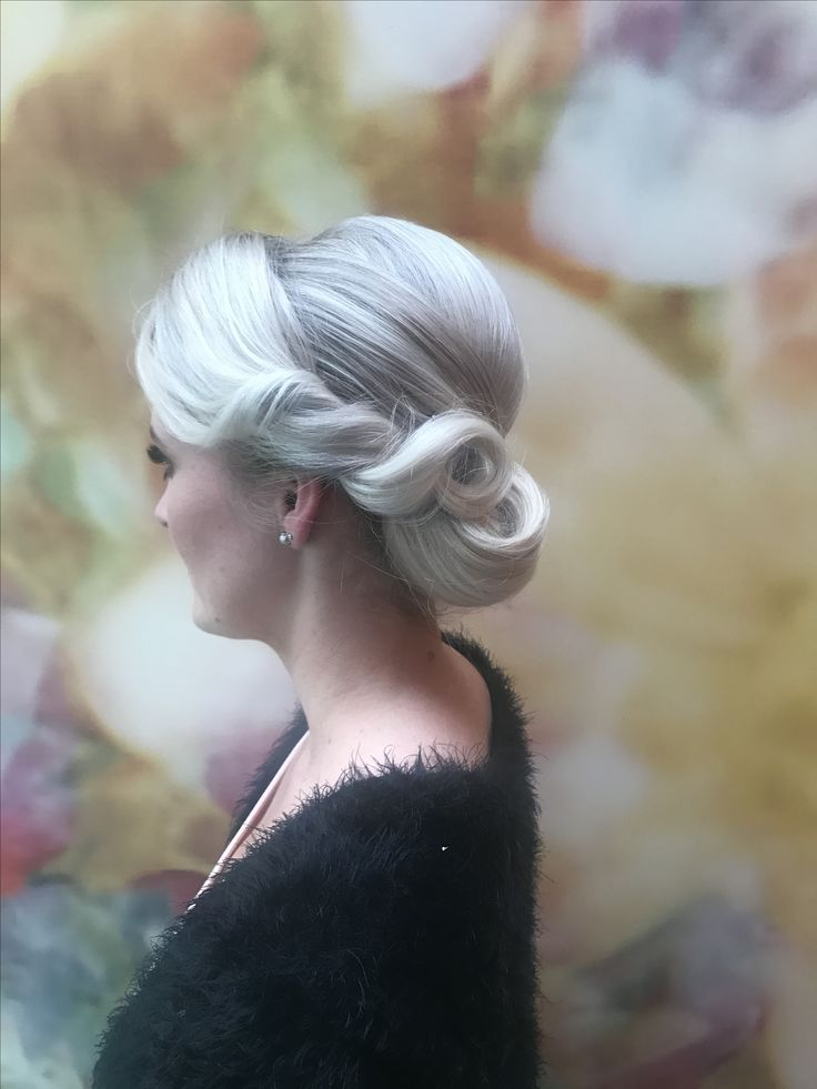 Loved up , hair up ,glamour, ice blonde