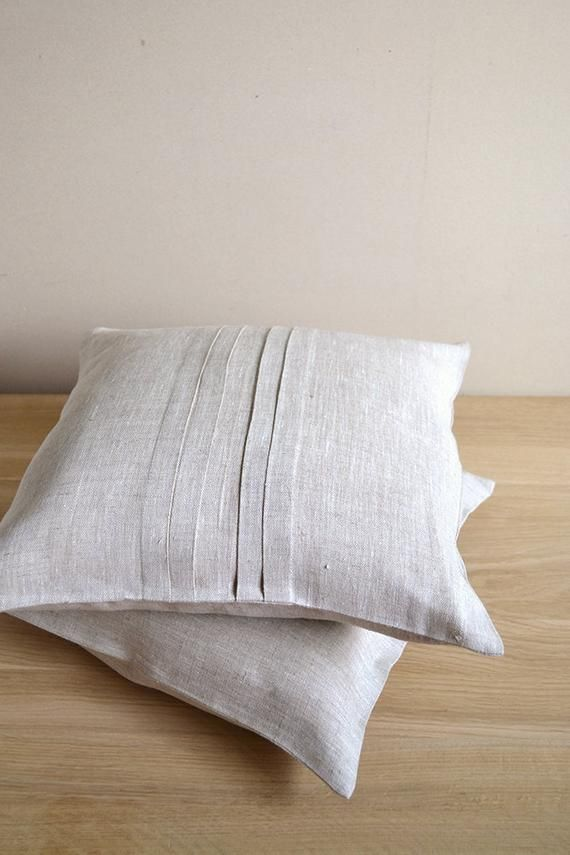 Cuscini Ecru.Linen Pillow Case Ecru Tan Cover Eco Friendly Cushion Undyed Linen