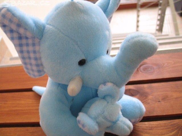 Nový plyšový slon. Nový nepoužívaný plyšový slon, - obrázek číslo 1