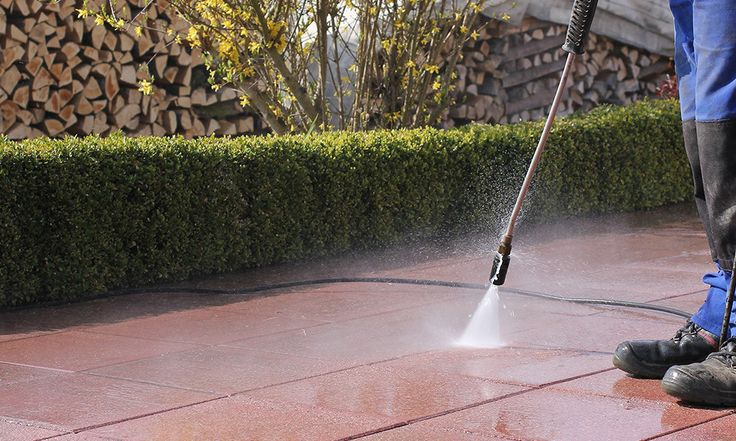 The great thing about high pressure cleaning is not much water is actually required to eliminate the dirt.