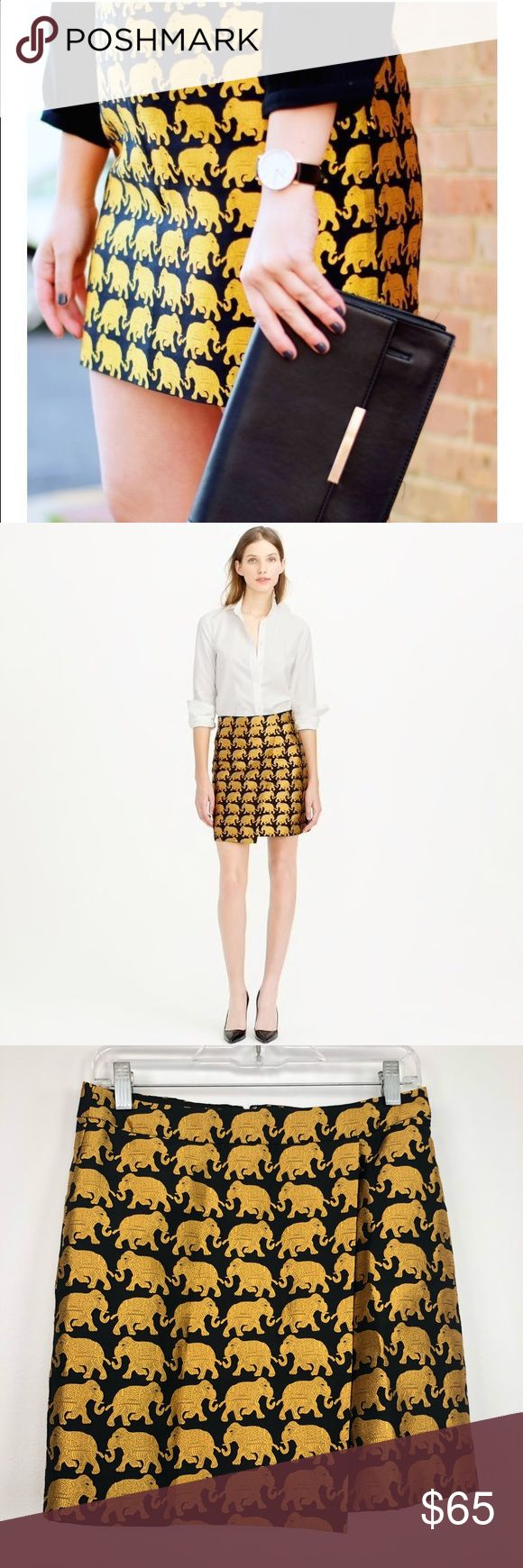 """J. Crew Origami Skirt In Elephant Parade J. Crew Origami Skirt In Elephant Parade.  Approx 14.5"""" waist and 17"""" length.  Zip closure.  Fully lined.  Excellent condition.  A2. J. Crew Skirts Mini"""