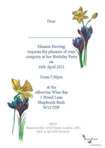 Spring birthday invitation!