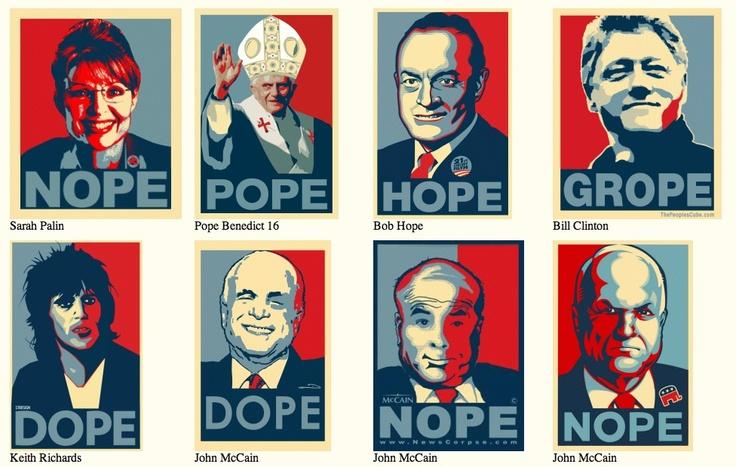 """Hope"" Obama poster parodies"