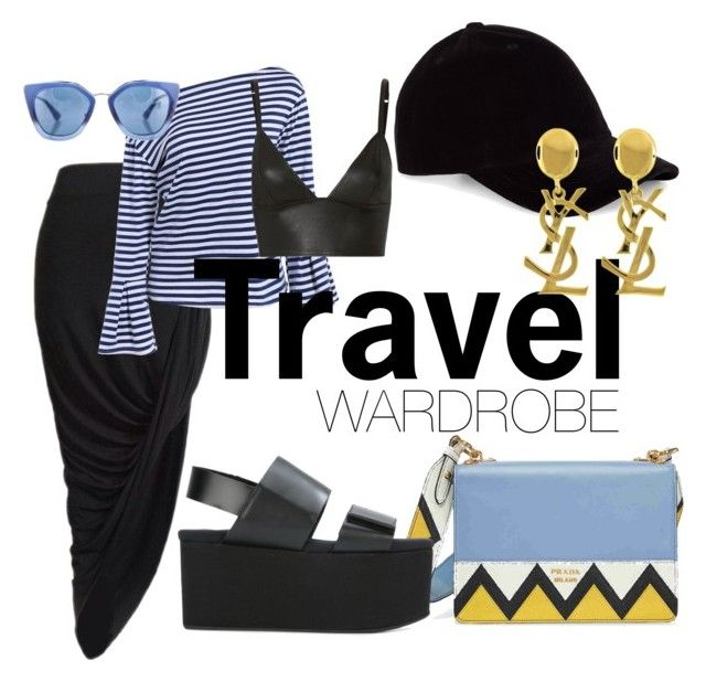 Travel by illetilmote on Polyvore featuring T By Alexander Wang, Marni, Prada and Yves Saint Laurent