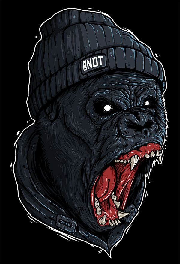 Illustration (Print): Rage (Bandit) on Behance