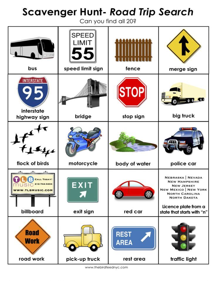 Scavenger Hunt for Kids- Road Trip Search | Next time you ...