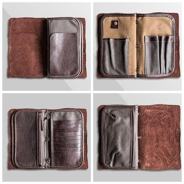 32b1c35bccf Handmade Best Leather Travel Wallet Men s Clutch Card Holder Wallet MBL01 -  Dark Coffee