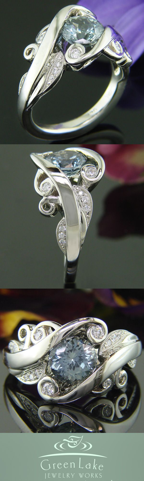 #GreenLakeJewelry swirl ring would make an enchanting #EngagementRing! #Ido
