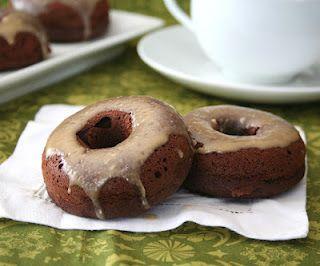 Chocolate Donuts and Irish Cream Glaze (Low Carb and Gluten-Free) @Carolyn Ketchum