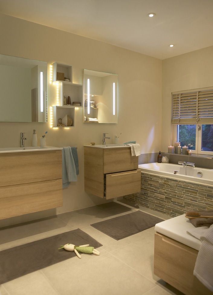 1000 id es propos de salle de bain beige sur pinterest - Peinture de salle de bain tendance ...