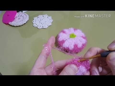 (코바늘)캡틴 아메리카 수세미 뜨개질 Captain America scrubber crochet hook[김라희]kimrahee - YouTube