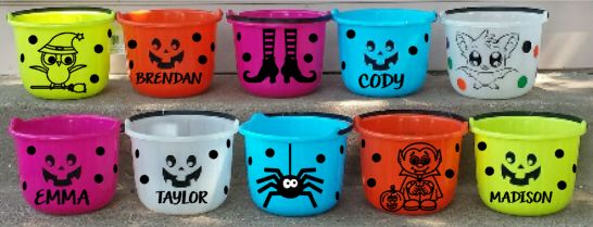 Halloween Candy Bucket - Kelly Belly Boo-tique  - 1