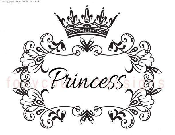 Princess Crown Coloring Pages To Print Coloring Pages Crown Clip Art Princess Coloring Pages