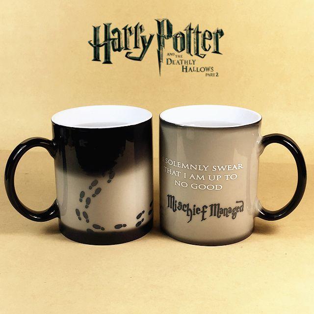 Гарри Поттер Кружки Изменение Цвета След Чашки Шaлоcть Удaлacь Волшебная кружка Кофе Чашки для друга подарок купить на AliExpress