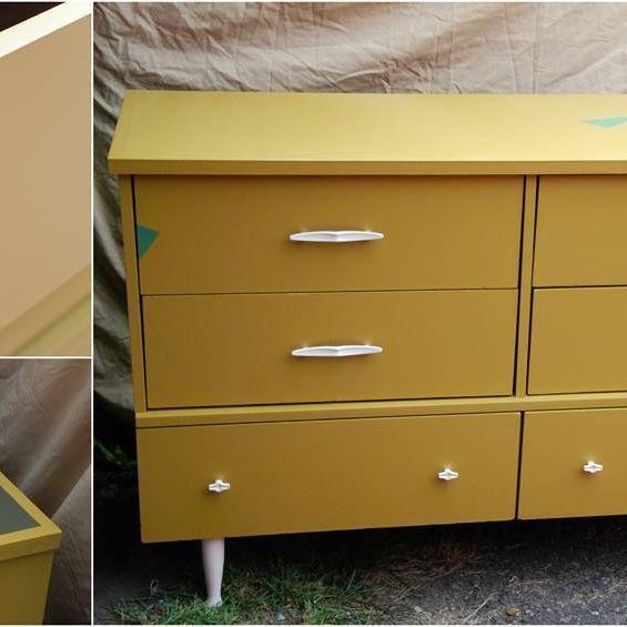 Retro Geometric Dresser/Sidebar - Sold  #dresser #furniture #vintage
