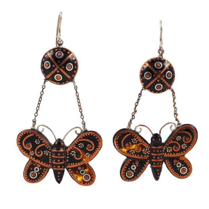 Victorian Butterfly Pique Earrings