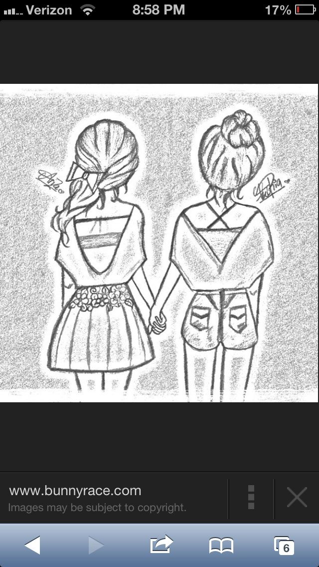 Bestfriends | Best friend drawings, Drawings of friends ...