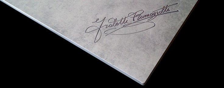 special edition table tops made from HPL with especially engraved logotypes