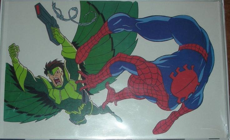 Marvel Spider Man Animated Tv Series Cartoon Cel Spider Man Animated Series Spiderman Amazing Spiderman