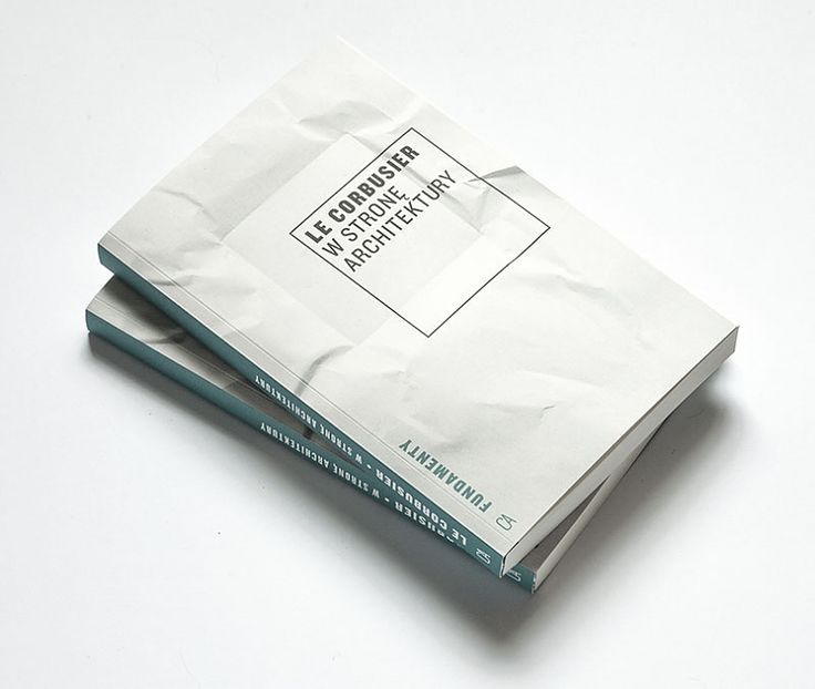 Le Corbusier /  Towards an Architecture / book cover design Kuba Sowiński