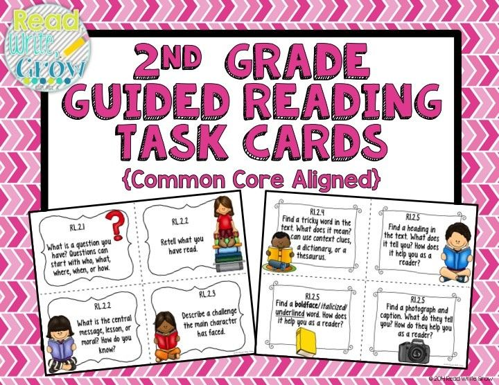 These task cards are perfect to use during guided reading or small group instruction. Each task card is aligned to a second grade Common Core Standard for reading literature, informational text, and foundational skills. This resource is a great way to make sure you address all of the Common Core Standards with your struggling readers. The task cards can be used with any guided reading text, or even in book clubs, independent reading, or reading partnerships.