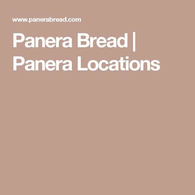 Panera Bread | Panera Locations