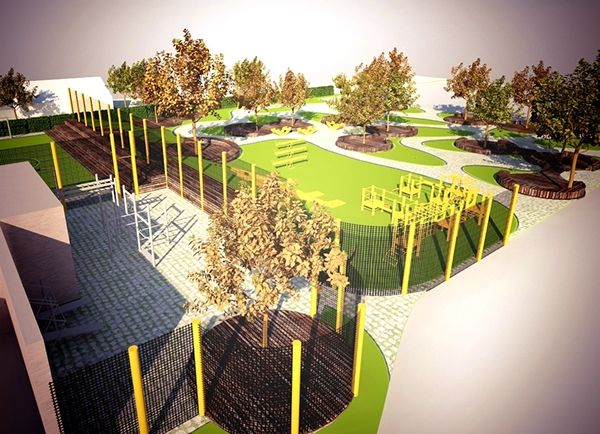 Design Project (for a charitable purpose) of Public Garden in the territory of the Saint-Trinity Monastery in Chernigov, Ukraine. Created by Galyna Tolkachova and Katerina Kybasova