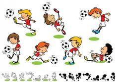 Dibujos De Niños Jugando Futbol | Dibujos Animados para Dibujar
