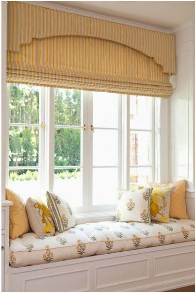 Beautiful layered treatment cornice board roman shade for Beautiful window treatments