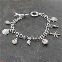 Beautiful! - New style handmade wrist chain with eight solid silver charms