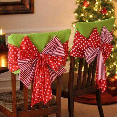 160 mejores im genes sobre forros para sillas navide os for Muebles decorados de navidad