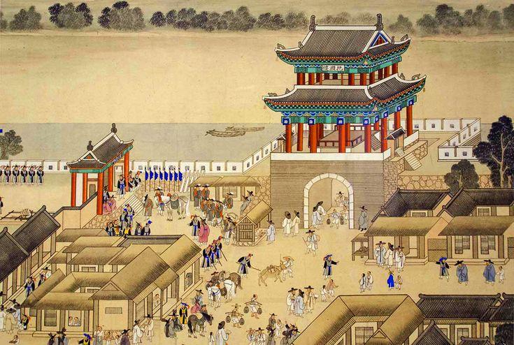 "Korean Documentary Painting - ""Celebration at Yeon-gwang Pavilion"""