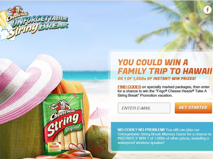 """Enter The Saputo Cheese USA Inc. """"Frigo Cheese Heads Take a String Break"""" Promotion for a chance to win a 6-day/5-night trip for four to Hawaii!"""
