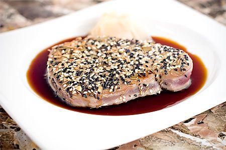 Tataki - halstrad tonfisk (förrätt)