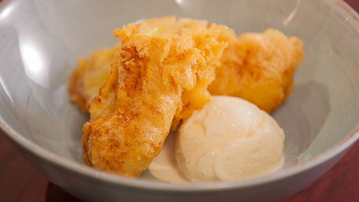 Goreng Pisang (Malaysian Deep Fried Banana) with Vanilla Ice Cream - can't wait to make this
