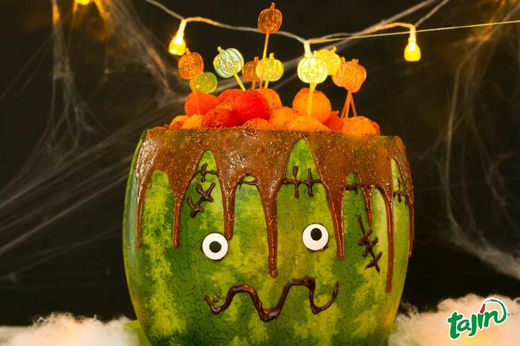 DIY Watermelon Monster for halloween party decoration