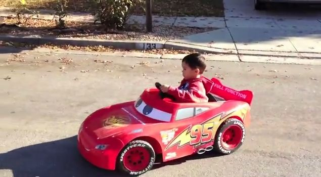 A Father & Son Team Trick Out a Beloved Lightning McQueen Toy Car