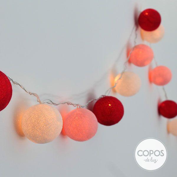 32 best guirnaldas copos de luz images on pinterest yarn - Bolas de hilo ...