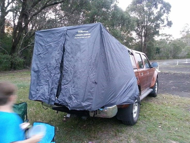 Tent to suit any dual cab styleside ute with a canopy - in grey - simple setup | Ute Canopy and Tents & Tent to suit any dual cab styleside ute with a canopy - in grey ...