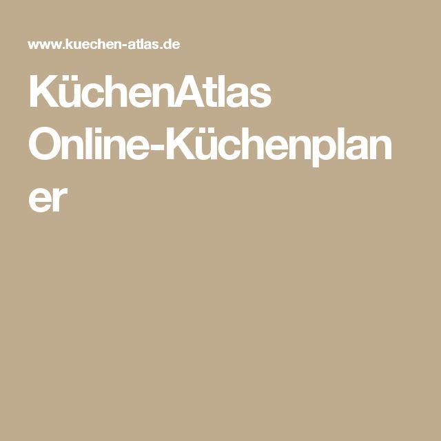 Best K chenAtlas Online K chenplaner