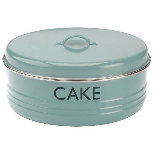 Pojemnik na ciasto tort w stylu retro NIEBIESKI BLUE - Made in USA - sklep ze sprzętem i akcesoriami kuchennymi