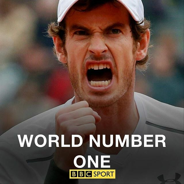 Andy Murray: World Number One, at last he has reached his deserved ranking. Well done Andy!!!!!