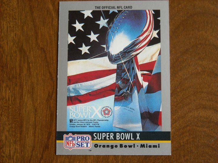 Super Bowl X January 1976 Steelers vs. Cowboys Card No. 10 (FB10) 1990 Pro Set Football Card - for sale at Wenzel Thrifty Nickel ecrater store
