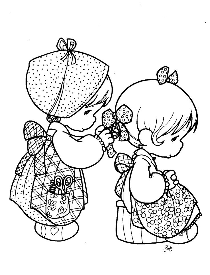 25 best images about Coloring Pages Precious Moments on