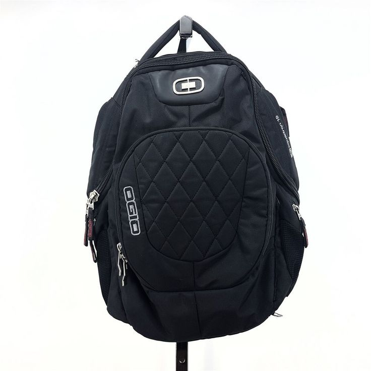 "OGIO Squadron Black Laptop Armor Protected Travel Backpack Tote 17"" Cushy Padded"