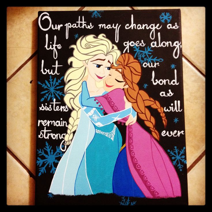 Quotes About Sisters Disney On Canvas A Sister Quotesgram