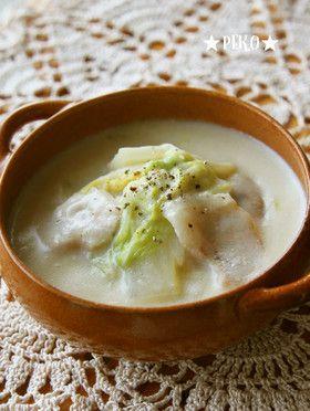 簡単♪豚肉と白菜のトロトロ♡豆乳スープ by ★peko★ [クックパッド] 簡単おいしいみんなのレシピが258万品
